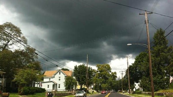 An Action News viewer sent in this photo of omnious clouds moving into Elmer, NJ.