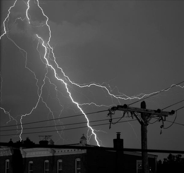 A viewer submitted this photo through sendit.6abc.com of a lightning strike in Norristown, Pa. on Thursday night.