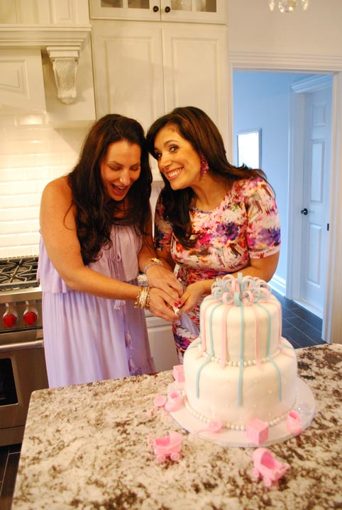 Alicia and her best friend Dara attend a joint gender reveal party with friends and family in Manasquan, Monmouth County. (Dara is also having a girl!)