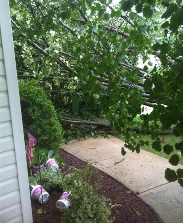 Submitted through sendit.6abc.com:  Storm just hit us Columbus NJ. Mansfield. Just moved into the house less than 30 days ago