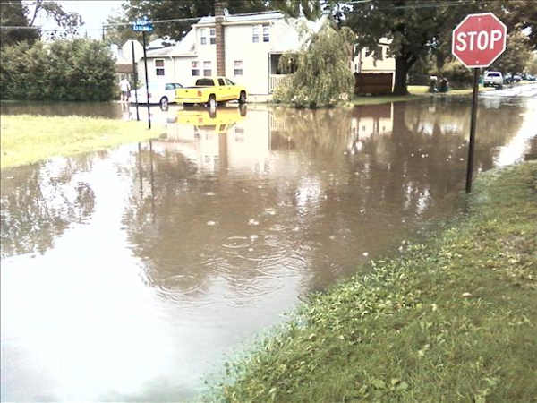 Submitted through sendit.6abc.com:  Rain came down so hard my Grandmother's street looked like a river.