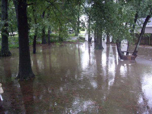 Submitted through sendit.6abc.com:  This is what our yard looks like in Croydon after the rain we just had. (on Sunday)