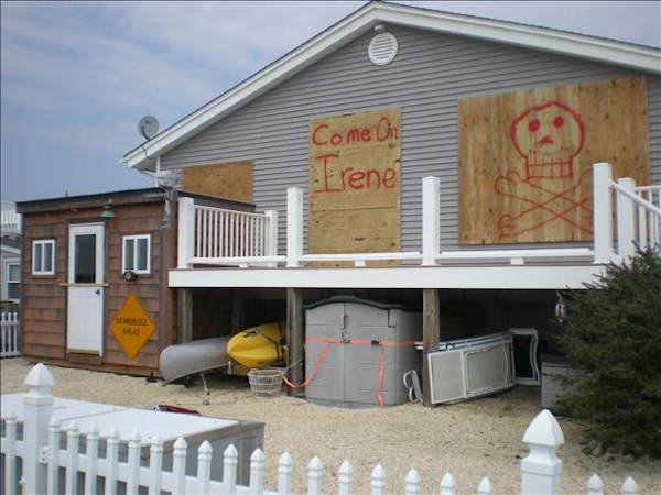 "An Action News viewer sent in this photo saying ""We are ready for the Hurricane Irene in Mystic Island!"""