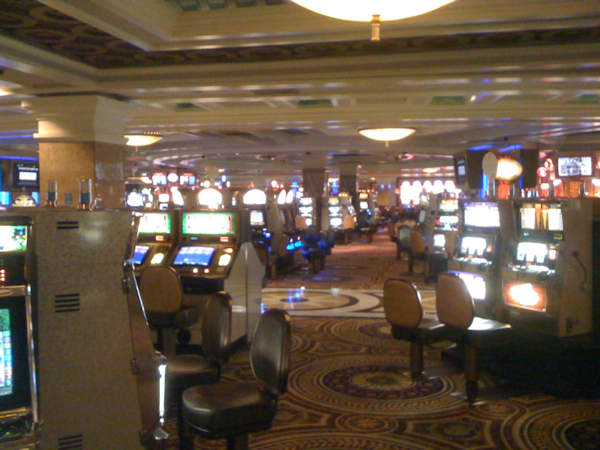 An Action News viewer named Dave sent in this photo of the empty gaming floor at Caesar's in Atlantic City on Friday, August 26th.
