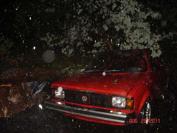 "<div class=""meta ""><span class=""caption-text "">Volkswagen pick-up crushed from effects of Hurrican Irene on Steinmetz rd. in Limerick PA.  Viewer photo of damage from Hurricane Irene submitted through sendit.6abc.com</span></div>"