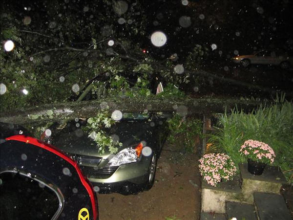 "<div class=""meta ""><span class=""caption-text ""> Results of Irene in West Germantown...Better the car than our house...   Viewer photo of damage from Hurricane Irene submitted through sendit.6abc.com</span></div>"
