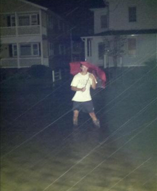Flooding in front of my house in Sea Isle City, N.J.   Over two feet in the street.  - Angelo Camano   Viewer photo of damage from Hurricane Irene submitted through sendit.6abc.com