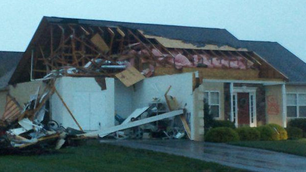 Action News viewer Mike Aumillersent sent this photo to Adam Joseph's facebook page of a home in Lewes, Delaware.