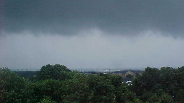 An Action News viewer sent in this photo of the view of the Valley Run Towers in Wilmington on Saturday afternoon.