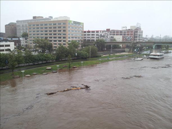 Pictures of the Schuylkill River Trail on Sunday morning.  Viewer photo of damage from Hurricane Irene submitted through sendit.6abc.com