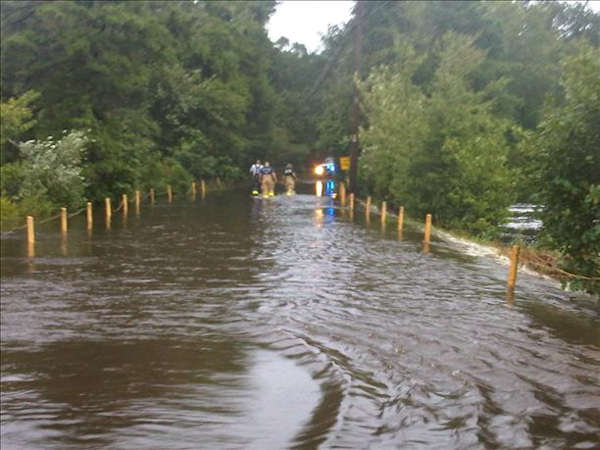 Access road to our home in Cecil, NJ  Viewer photo of damage from Hurricane Irene submitted through sendit.6abc.com