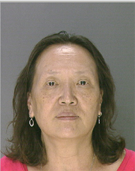 Pictured:  In Sun Hopkins, 62, from the 1800 Block of Ranstead Street.  She was charged with prostitution following a raid of the 1819 Spa at 1819 Ranstead Street on Wednesday, August 28th.