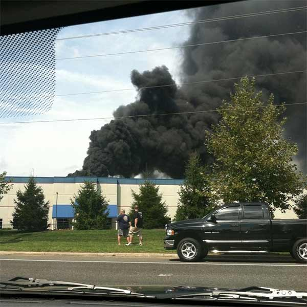 <span class=meta>(Brandi Eithier posted this photo of the Dietz &#38; Watson fire on our Action News Facebook page.)</span>