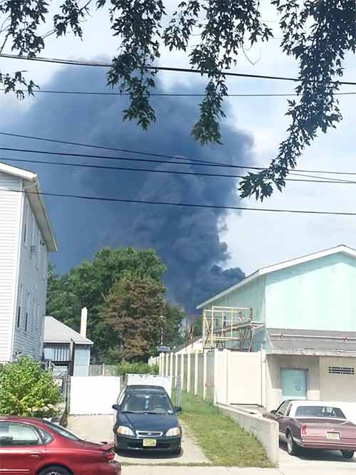 Brandi Eithier posted this photo of the Dietz & Watson fire on our Action News Facebook page.