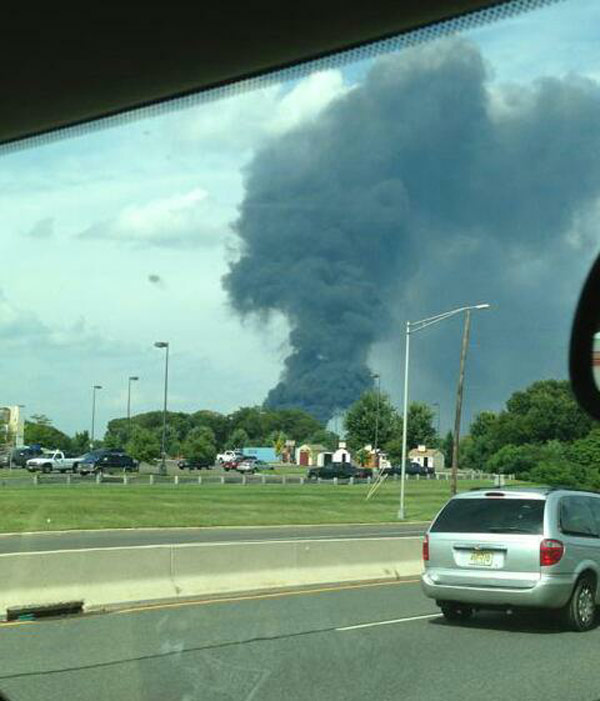 "<div class=""meta image-caption""><div class=""origin-logo origin-image ""><span></span></div><span class=""caption-text"">Viewer Stephanie sent in this photo of the Dietz & Watson warehouse fire in Delanco, N.J.  on September 1, 2013.</span></div>"