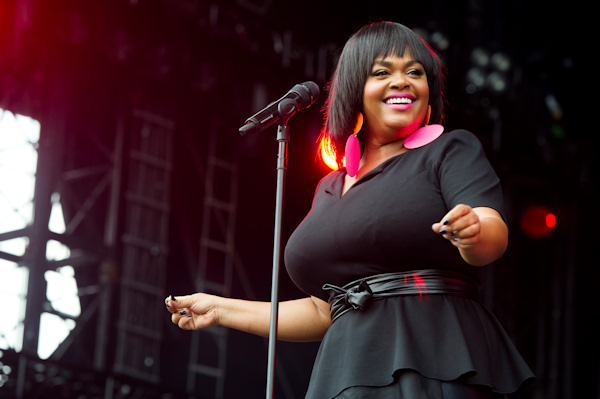 "Jill Scott performs at the ""Made In America"" music festival on Sunday, Sept. 2, 2012, in Philadelphia, PA. (Photo by Charles Sykes/Invision/AP)"
