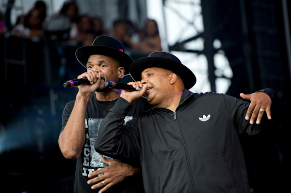 "<div class=""meta ""><span class=""caption-text "">Run DMC performing at the ""Made In America"" music festival on Sunday Sept. 2, 2012, in Philadelphia. (Photo by Drew Gurian/Invision/AP) </span></div>"