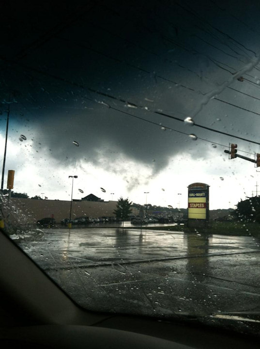 Viewer Danielle Romanowski took this picture at the Audubon, NJ Walmart parking lot on September 4, 2012.