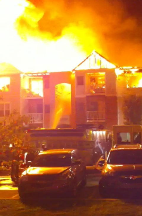 A still of the fire from video shot by Action News viewer Kevin Burns.