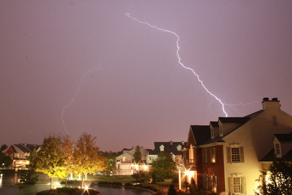 Photo of thunderstorm in Lansdale, Pa. on Wednesday, September 22, 2010 taken by Parrish Henderson.