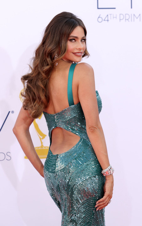 "<div class=""meta ""><span class=""caption-text "">Sofia Vergara from ""Modern Family"" arrives at the 64th Primetime Emmy Awards at the Nokia Theatre on Sunday, Sept. 23, 2012, in Los Angeles. (Photo by Matt Sayles/Invision/AP) </span></div>"
