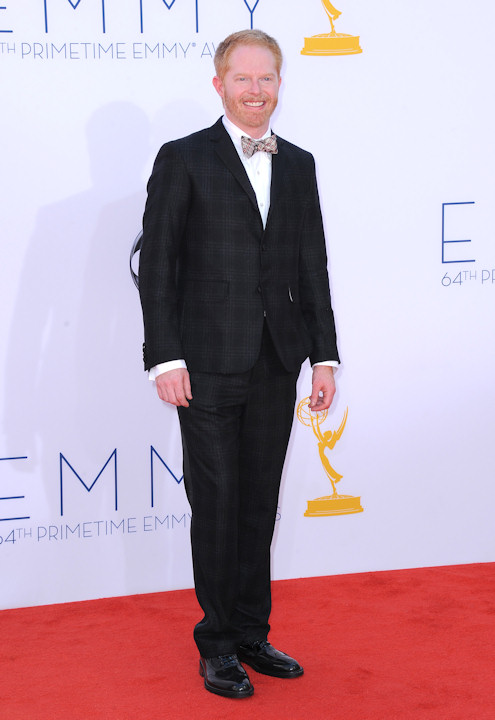 Actor Jesse Tyler Ferguson arrives at the 64th Primetime Emmy Awards at the Nokia Theatre on Sunday, Sept. 23, 2012, in Los Angeles. (Photo by Jordan Strauss/Invision/AP)