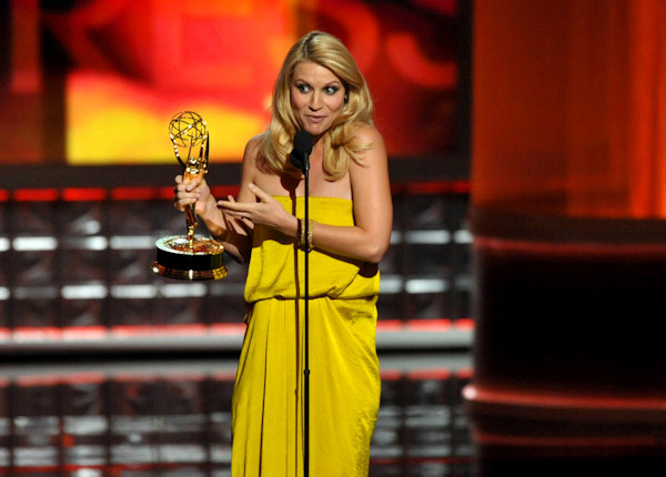 "<div class=""meta ""><span class=""caption-text "">Claire Danes accepts the award for outstanding lead actress in a drama series for ""Homeland"" at the 64th Primetime Emmy Awards at the Nokia Theatre on Sunday, Sept. 23, 2012, in Los Angeles. (Photo by John Shearer/Invision/AP)  </span></div>"