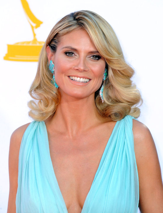 "<div class=""meta ""><span class=""caption-text "">Model Heidi Klum arrives at the 64th Primetime Emmy Awards at the Nokia Theatre on Sunday, Sept. 23, 2012, in Los Angeles. (Photo by Jordan Strauss/Invision/AP) </span></div>"