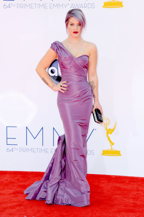 Kelly Osbourne arrives at the 64th Primetime Emmy Awards at the Nokia Theatre on Sunday, Sept. 23, 2012, in Los Angeles. (Photo by Jordan Strauss/Invision/AP)
