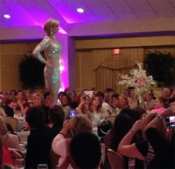 "Cecily Tynan and Alicia Vitarelli helped host the ""Girls Night Out"" event at Springfield Country Club on Monday night.  The annual fashion show supports the fight against breast cancer through the Fox Chase Crozer-Keystone Cancer Partnership."