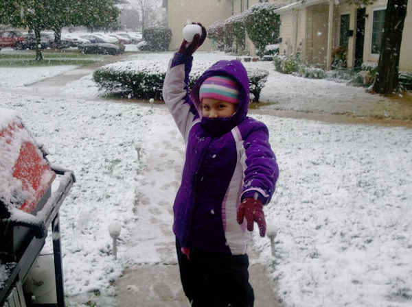 Rachael DeFazio Daniels - Snowball Fight in Harleysville, PA  Submitted on the Action News Facebook page