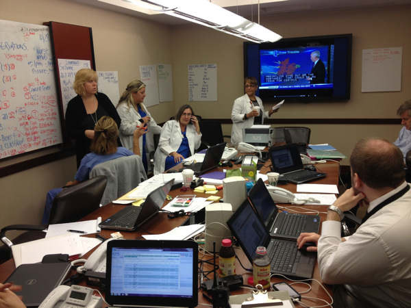 Action News viewer Jeremy Walter sent us this picture of the Command Center at Temple University Hospital.