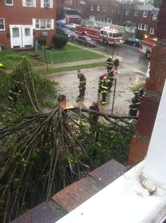 "<div class=""meta ""><span class=""caption-text "">Photo of Hurricane Sandy's effects in Norristown from Action News viewer Janee Brewer.</span></div>"