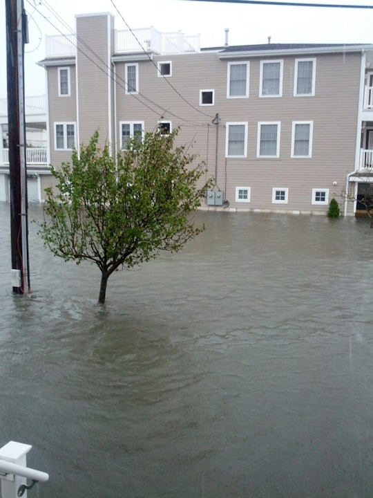 3rd and Bay in Ocean City. Photo taken by Action News viewer John Walton