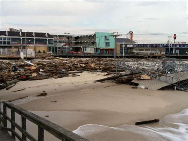 "<div class=""meta ""><span class=""caption-text "">Chews Landing firefighter Ed Rainas sent us this photo of Hurricane Sandy's damage in Seaside Heights and Seaside Park. ( Ed Rainas)</span></div>"