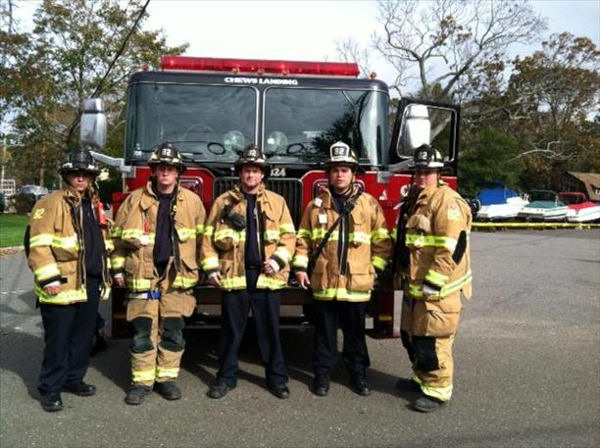 Ed Rainas and his fellow Chews Landing firefighters helped with the recovery and evacuation efforts in Seaside Heights and Seaside Park in the wake of Hurricane Sandy. <span class=meta>(Ed Rainas)</span>