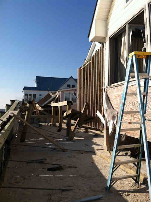 "<div class=""meta image-caption""><div class=""origin-logo origin-image ""><span></span></div><span class=""caption-text"">Meteorologist Chris Sowers took a look at some of the storm damage from Hurricane Sandy along the Delaware Bay. The damage to Gandy's Beach was severe and extensive. Several waterfront homes suffered unrecoverable losses, including entire homes being washed away.  (Chris Sowers)</span></div>"