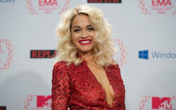 Rita Ora posing on 11.11.12 at the 19th MTV Europe Music Awards 2012 in Frankfurt.  Photo: Thomas Lohnes / DAPD