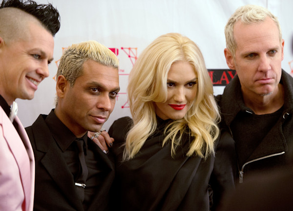Members of No Doubt pose on 11.11.12 at the 19th MTV Europe Music Awards 2012 in Frankfurt.  Photo: Thomas Lohnes / DAPD