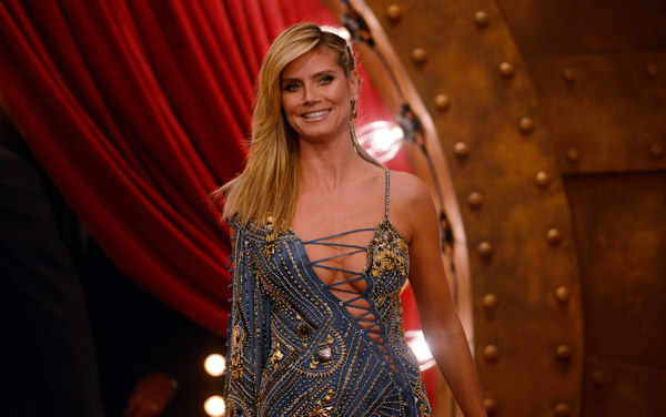 Heidi Klum poses on 11.11.12 at the 19th MTV Europe Music Awards 2012 in Frankfurt.  Photo: Thomas Lohnes / DAPD