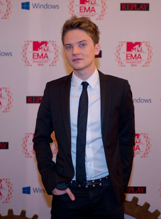 Conor Maynard poses on 11.11.12 at the 19th MTV Europe Music Awards 2012 in Frankfurt.  Photo: Thomas Lohnes / DAPD
