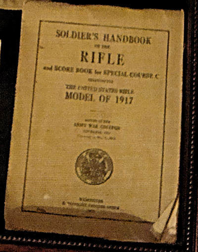 "<div class=""meta image-caption""><div class=""origin-logo origin-image ""><span></span></div><span class=""caption-text"">The instruction booklet for soldier Navinsky's rifle. (Photo/David Murphy)</span></div>"