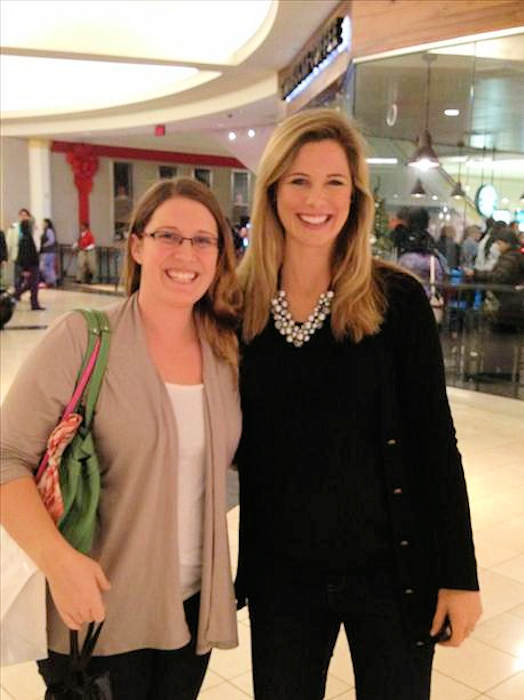 Black Friday 2012 - From @CraigWettner: After filing her report with @6abc @KScott6abc stopped to pose for pictures.