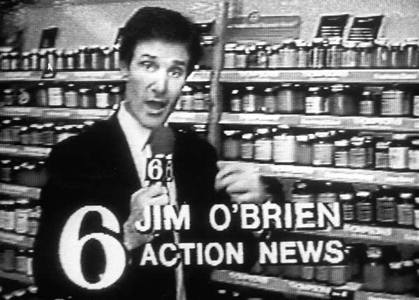 Jim O'Brien anchored the Noon and 5pm shows here at Channel 6, as well as reporting the weather at 6 and 11.