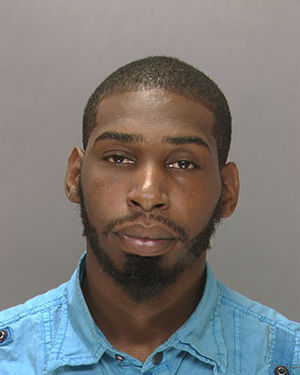 Pictured: Antoine Powell, who was one of 21 people arrested early Thursday morning in a drug sweep in Collingdale, Pa.    The Delaware County Drug Task Force said the arrests were the results of a three-month-long investigation into drug sales in the borough.