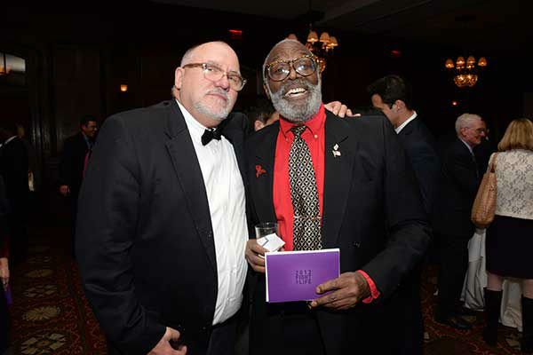 "Pictured: Ted Faigle and Donald Carter at Philadelphia FIGHT's ""Fight for Life"" Gala honoring former Governor Ed Rendell on Wednesday, December 4th at the Union League of Philadelphia.  (Photo: HughE Dillon)"