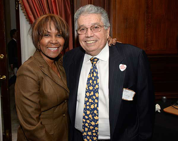 "Pictured: Councilwoman Blondell Reynolds Brown and Former Councilman Angel Ortiz at Philadelphia FIGHT's ""Fight for Life"" Gala honoring former Governor Ed Rendell on Wednesday, December 4th at the Union League of Philadelphia. (Photo: HughE Dillon)"
