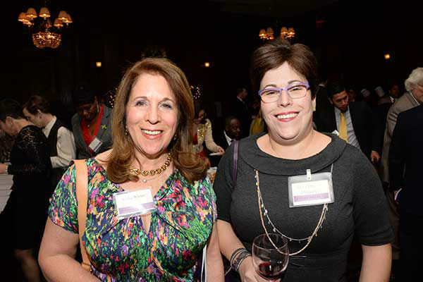 "Pictured: Felice Wiener and Allison Goodwin at Philadelphia FIGHT's ""Fight for Life"" Gala honoring former Governor Ed Rendell on Wednesday, December 4th at the Union League of Philadelphia. (Photo: HughE Dillon)"