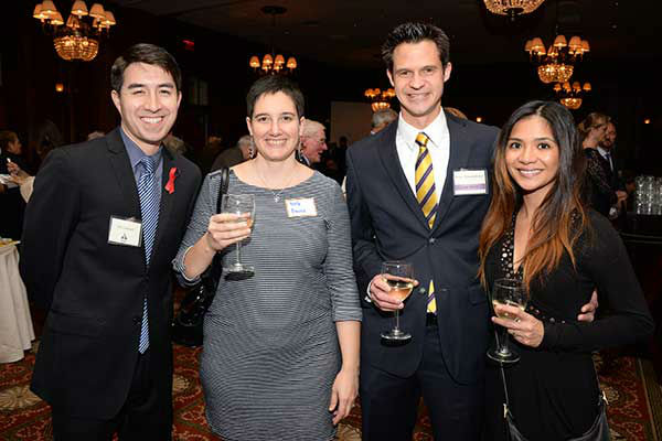 "Pictured: Joe Garland, Kate Rivera, Brian and Lorlei Shingledecker at Philadelphia FIGHT's ""Fight for Life"" Gala honoring former Governor Ed Rendell on Wednesday, December 4th at the Union League of Philadelphia. (Photo: HughE Dillon)"