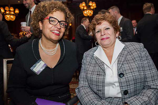 "Pictured: Leigh Jackson (wife of State Treasurer Rob McCord) and State Senator Tina Tartaglione  at Philadelphia FIGHT's ""Fight for Life"" Gala honoring former Governor Ed Rendell on Wednesday, December 4th at the Union League of Philadelphia.  (Photo: Philadelphia FIGHT)"